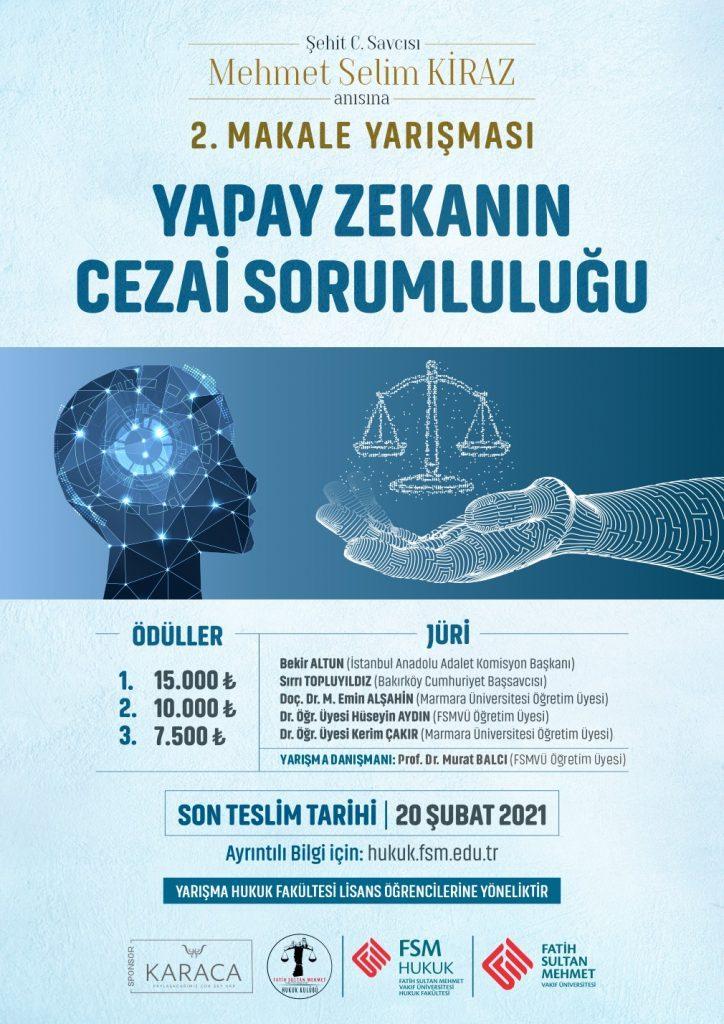 Mehmet Selim Kiraz Anısına 2. Makale Yarışması