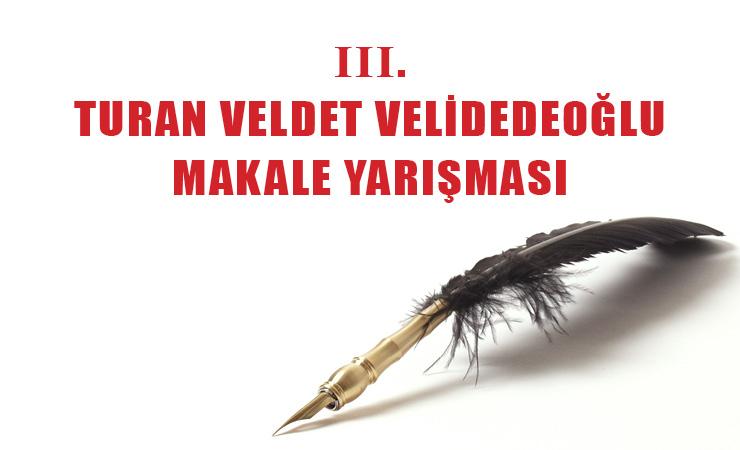 Turan Veldet Velidedeoğlu Makale Yarışması