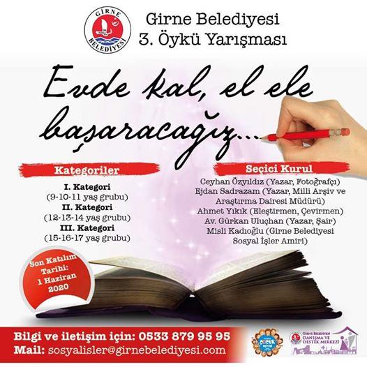 Girne Belediyesi 3. Öykü Yarışması