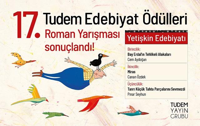 17. Tudem Edebiyat Ödülleri Roman Yarışması Sonuçları