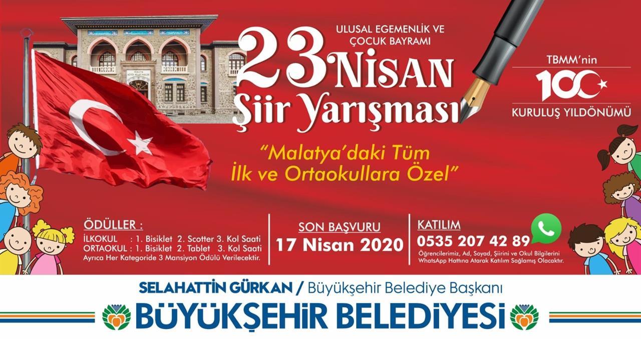 Malatya 23 Nisan Şiir Yarışması 2020