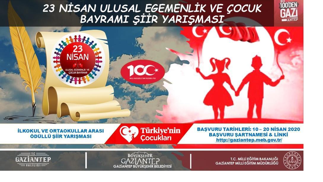 Evde Bayram Var Gaziantep 23 Nisan Şiir Yarışması