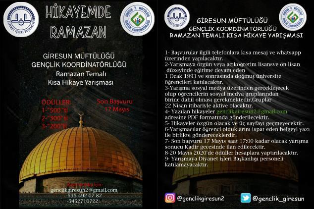 Hikayemde Ramazan Hikaye Yarışması