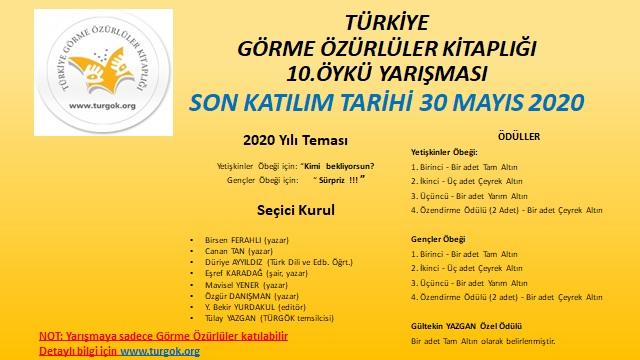 Türkiye Görme Özürlüler Kitaplığı 10. Öykü Yarışması