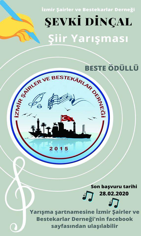 İzmir Şairler ve Bestekarlar Derneği Şevki Dinçal Şiir Yarışması