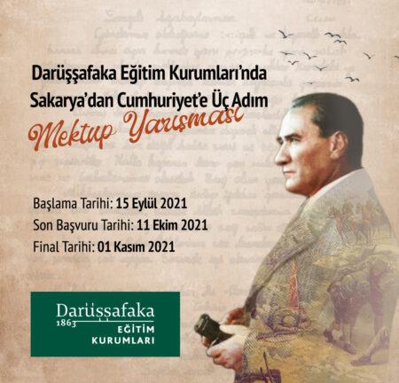Sakarya'dan Cumhuriyet'e Üç Adım Mektup Yarışması