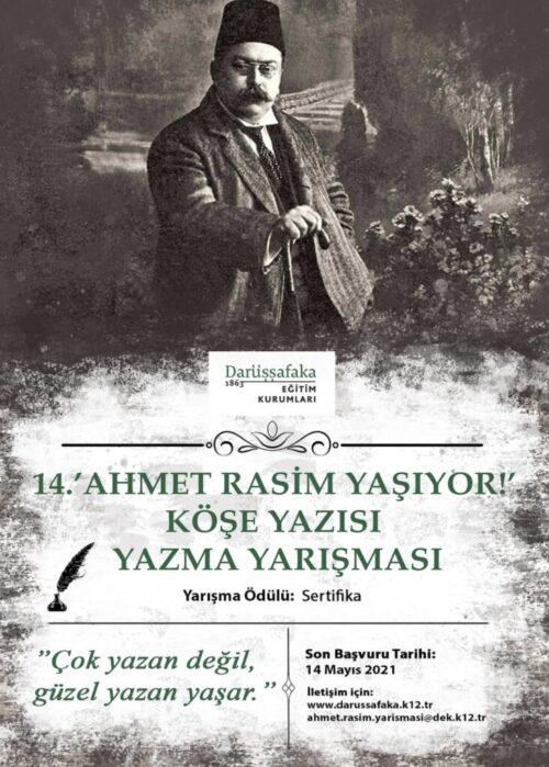 14. Ahmet Rasim Yaşıyor Köşe Yazısı Yazma Yarışması
