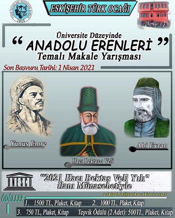 Anadolu Erenleri Makale Yarışması