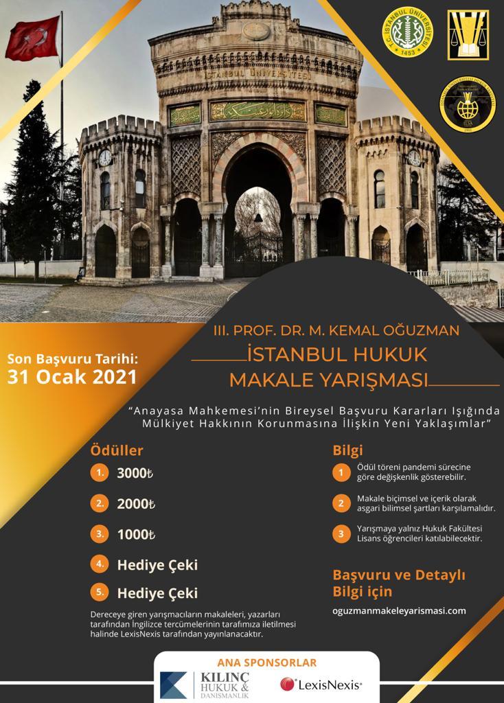 İstanbul Hukuk Makale Yarışması